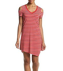 Marc New York Performance Stripe Asymmetrical Hem Dress