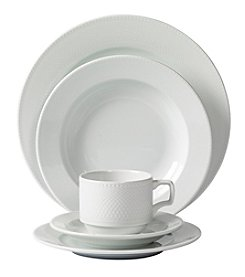 Mitterteich Andrea 20-Piece Embossed Porcelain Dinnerware Set