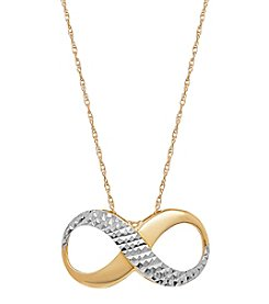 14K Gold and Diamond-Cut Infinity Slide Pendant Necklace
