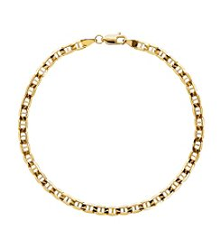 10K Gold Solid Light Marine Chain Bracelet
