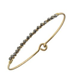 Canvas Delicate Wired Bead Latch Bangle