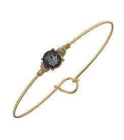 Canvas Delicate Bezel Latch Bangle