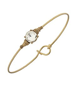 Canvas Delicate Bezel Latch Bangle Bracelet