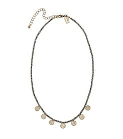 Canvas Hammered Discs Beaded Necklace
