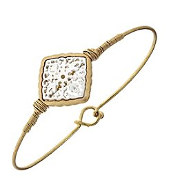 Canvas Filigree Diamond Latch Bangle