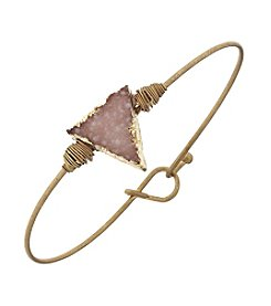 Canvas Triangle Druzy Latch Bangle