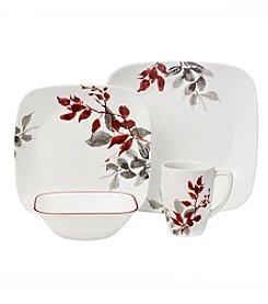 Corelle® Boutique™ Kyoto Leaves 16-Piece Square Dinnerware Set
