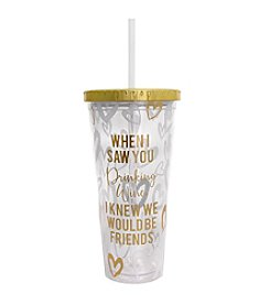 Erica Lyons® Friends Tumbler And Straw Gift