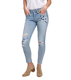 Silver Jeans Co. Izzy Embroidered Skinny Jeans