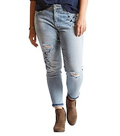 Silver Jeans Co. Plus Size Izzy Embroidered Skinny Jeans