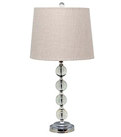 Catalina Lighting Crystal Stacked Ball Lamp