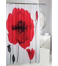 Moda at Home Poppy Explosion Fabric Shower Curtain