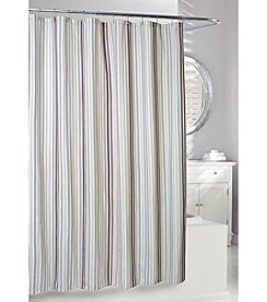 Moda at Home Stratford Stripe Fabric Shower Curtain