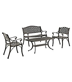 W. Designs 4-Piece Cast Aluminum Conversation Set
