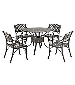W. Designs 5-Piece Cast Aluminum Dining Set
