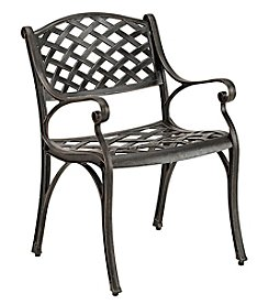 W. Designs Set of 2 Antique Cast Aluminum Patio Chairs