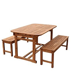 W. Designs 3-Piece Acacia Patio Dining Set