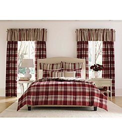 Laura Ashley® 7-pc Cranberry Cottage Comforter Set