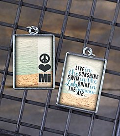 Juicy Christians Peace Love Michigan Double Sided Pendant