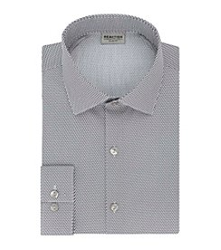 REACTION Kenneth Cole Men's Techni-Cole™ Stretch Slim Fit Spread Collar Printed Dress Shirt