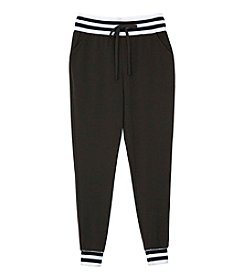 Amy Byer Girls' 7-16 Rib Trim Waistband Sweatpants