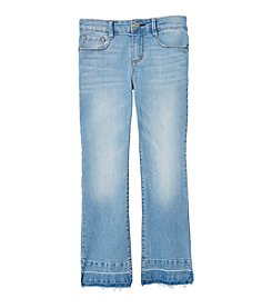 Jessica Simpson Girls' 10-14 Cherish Crop Flare Denim Jeans