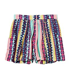 Jessica Simpson Girls' 7-16 Layne Striped Flippy Shorts
