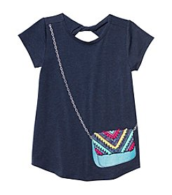 Jessica Simpson Girls' 7-16 Short Sleeve Katelyn Twist Back Tee