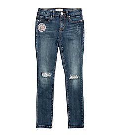 Jessica Simpson Girls' 7-16 Kiss Me Faux Pocket Skinny Jeans