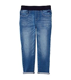 Jessica Simpson Girls' 7-16 Gracie Rib Pull On Skinny Jeans