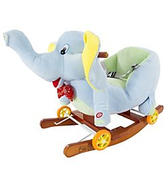 Hey! Play! Rocking Horse Plush Animal Elephant