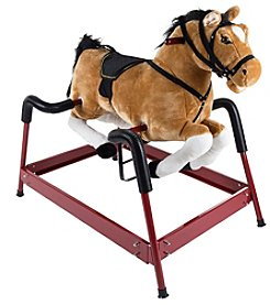 Happy Trails Spring Rocking Horse Plush Ride on Toy