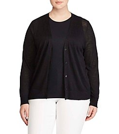 Lauren Ralph Lauren® Plus Size Embroidered Cardigan