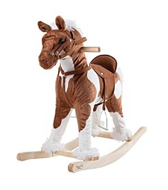 Happy Trails Rocking Horse Clysdale Plush Animal