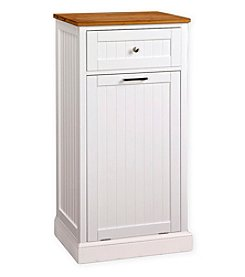 Corner Housewares Microwave Kitchen Cart with Hideaway Trash Can Holder