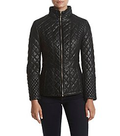 Gallery® Quilted Faux Leather Jacket