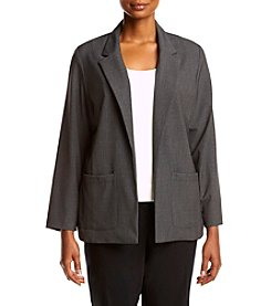 Briggs New York® Plus Size Open Front Jacket