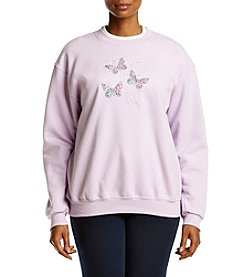 Breckenridge® Plus Size Butterfly Scroll Fleece