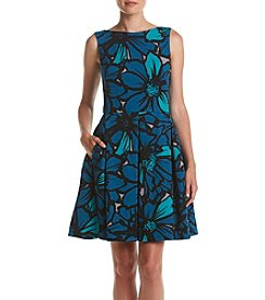 Taylor Dresses Floral Pleated Dress