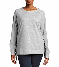 Exertek® Plus Size Side Tie Sweatshirt