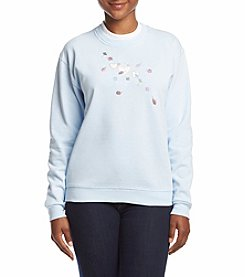 Breckenridge® Petites' Floating Hearts Fleece