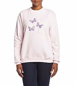 Breckenridge® Petites' Butterfly Scroll Fleece