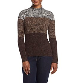Studio Works® Petites' Mock Turtleneck Sweater