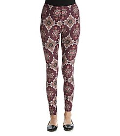 Pink Rose® Medallion Print Leggings