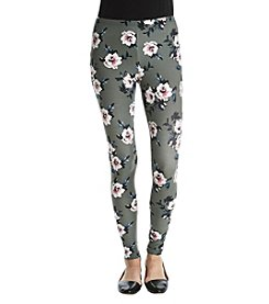 Pink Rose® Floral Print Leggings
