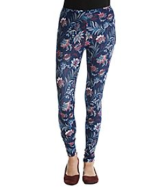 Pink Rose® Abstract Floral Print Leggings