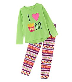 Komar Kids® Girls' 4-16 2 Piece Fry Day Pajama Set