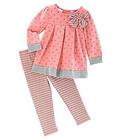 Nannette® Baby Girls' 2 Piece Top And Leggings Set