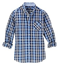 Chaps® Boys 4-20 Long Sleeve Plaid Shirt