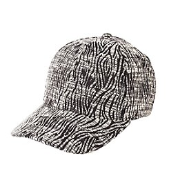 Collection 18 Woven Animal Print Baseball Cap